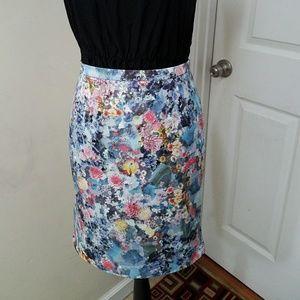 H&M Floral Pencil Skirt